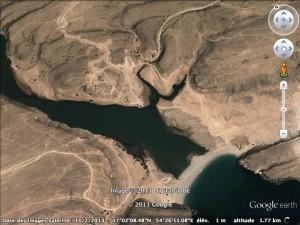 Vue aérienne du site de Khowr Ruri.