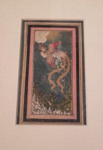 """""""L'oiseau Rukhkh"""", Iran ou Deccan, Inde, début du XVIIe s. Encre, gouache et or sur papier."""