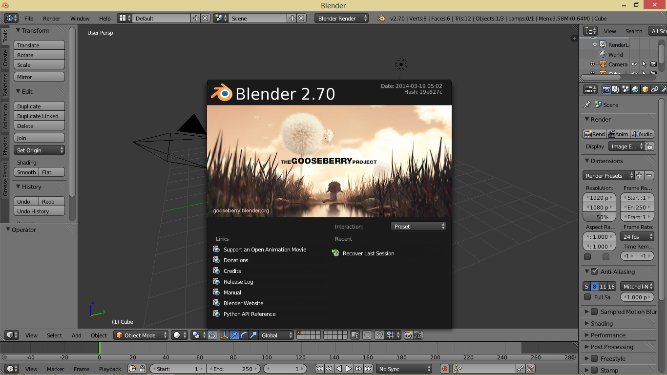 Blender le logiciel de cr ation 3d open source cr ation for Logiciel de creation 3d gratuit francais