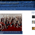 """Page d'accueil du projet """"The People of Medieval Scotland"""""""
