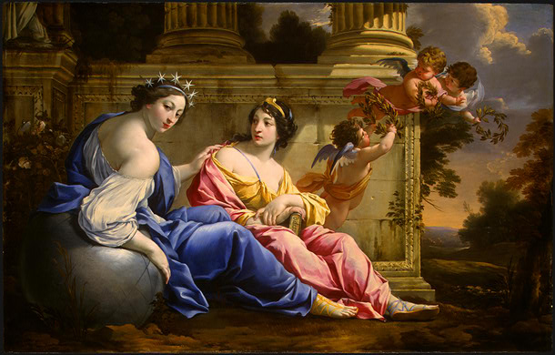 Las Musas Urania y Calliope de Simon Vouet