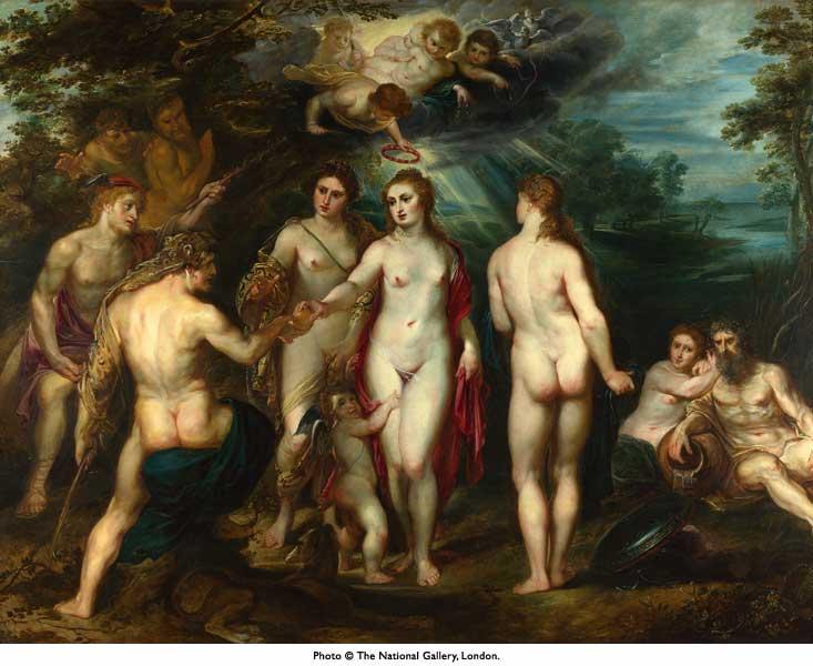 Juicio de Paris, de Rubens. 1624 aprox.