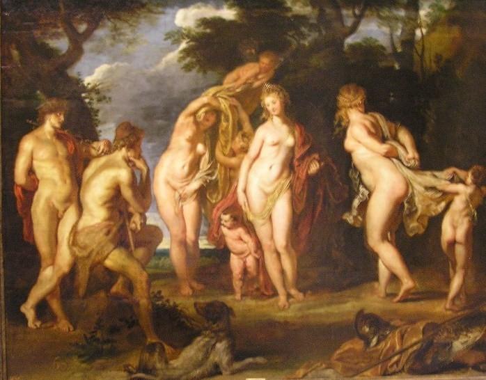 Juicio de Paris, Rubens. 1639 aprox.