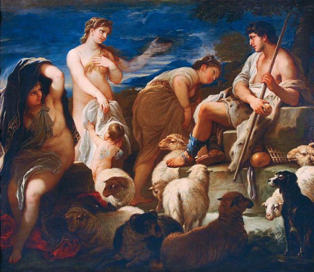 Juicio de Paris, Luca Giordano, 1685