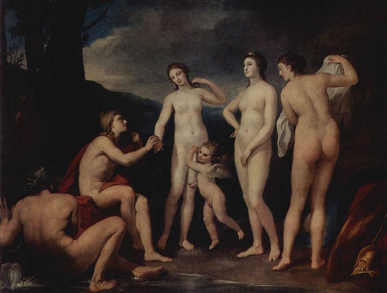 Juicio de Paris, Mengs. 1757.