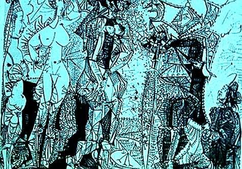 Juicio de Paris, Picasso.