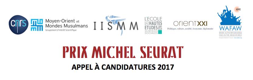 Prix Michel Seurat: appel à candidature 2017