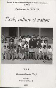ECOLE CULTURE NATION VOL I COUVERTURE