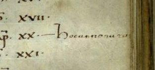 "Hoc anno natu[s sum.] (""Je suis né cette année-là."" ROMA, Bibl. Vallic., E 26, f. 30r)"