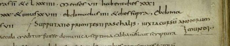Titre initialement manquant, rajouté par Florus (ROMA, Bibl. Vallic., E 26, f. 38r)