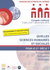 Congrès national du Réseau national des MSH – Caen 6-7 déc. 2012