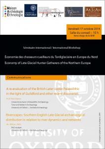 Les sociétés tardiglaciaires de Grande-Bretagne – vendredi 17 octobre 2014 à la MAE