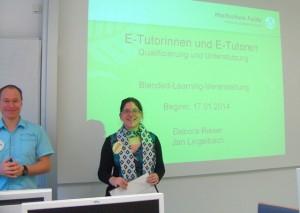 Die Leiter der Präsenzveranstaltung Debora Rieser und Jan Lingelbach