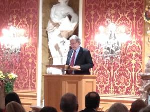 Prof. Dr. Klaus Bade im Fürstensaal des Stadtschloss Fulda