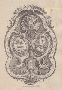 Exlibris aus der Pollinger Klosterbibliothek (Bayerische Staatsbibliothek, Exlibris 2-3, online: http://daten.digitale-sammlungen.de/bsb00056593/image_111)