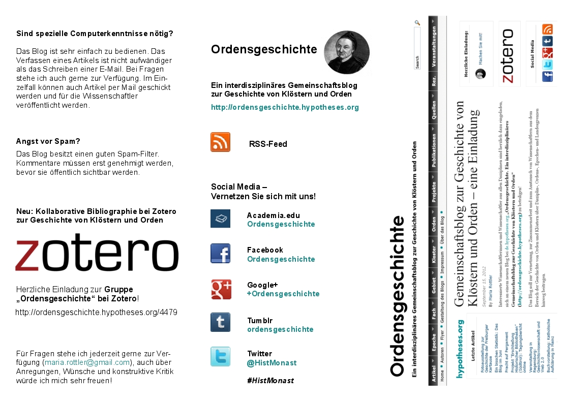 Flyer Ordensgeschichte