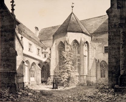 Stift Klosterneuburg, Lithographie von Leopold Ernst, 1846