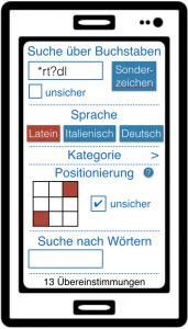 Neue Suchmöglichkeiten auf App fontes
