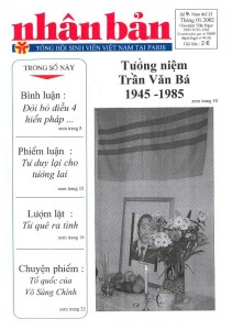 La revue Nhan Ban (n° 9 - nouvelle série 1-2002) © collection Guillemot