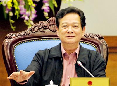 L'intervention décisive du Premier ministre Nguyen Tan Dung le 10 février 2012 © Chinhphu.vn