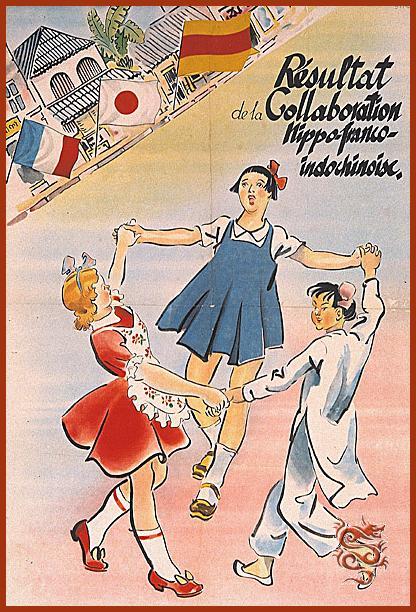 Une affiche de propagande gaulliste dénonçant la politique de Decoux en Indochine.