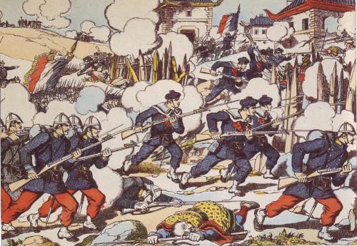 La guerre du Tonkin (image d'Epinal, 1884).