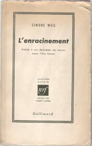 L'enracinement,_Simone_Weil_Gallimard