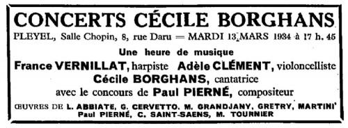 AdèleClément_Programme13mars1934_Pleyel