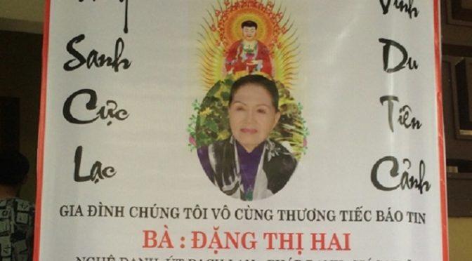 Sầu nữ Út Bạch Lan qua đời [1935-2016]