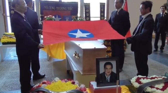 Funérailles de Trần Tử Miễn, secrétaire du VNQDÐ en France