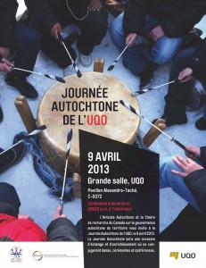 Journée Autochtone de l'UQO – 9 Avril 2013