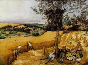 Ingold appuie sa proposition de taskscape sur l'analyse de ce tableau de Bruegel l'Ancien (Les moissonneurs, 1565)