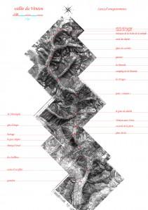 Carte des enregistrements sonores le long du Vénéon (crédits: juL McOisans)