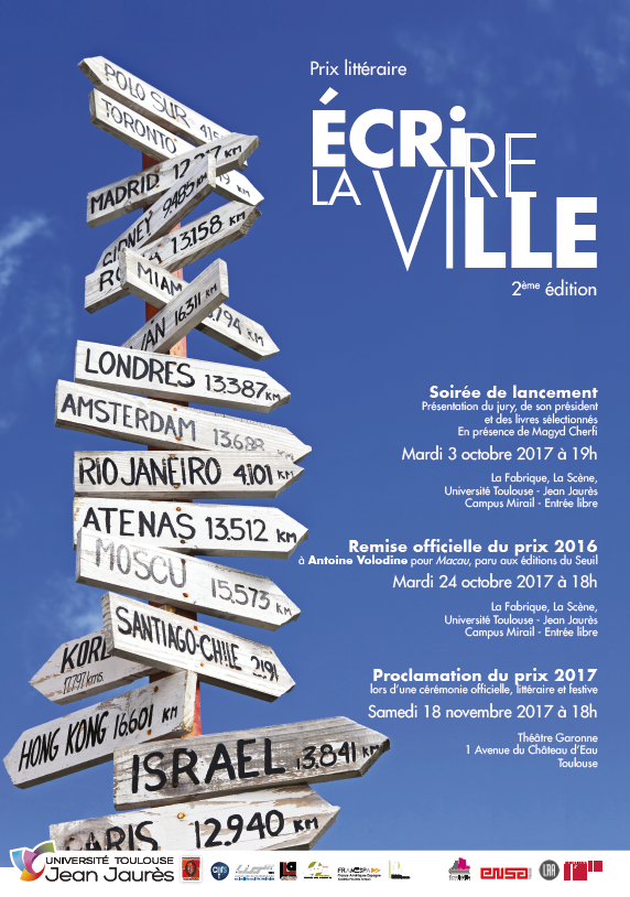 Prix Ecrire la ville Edition 2017