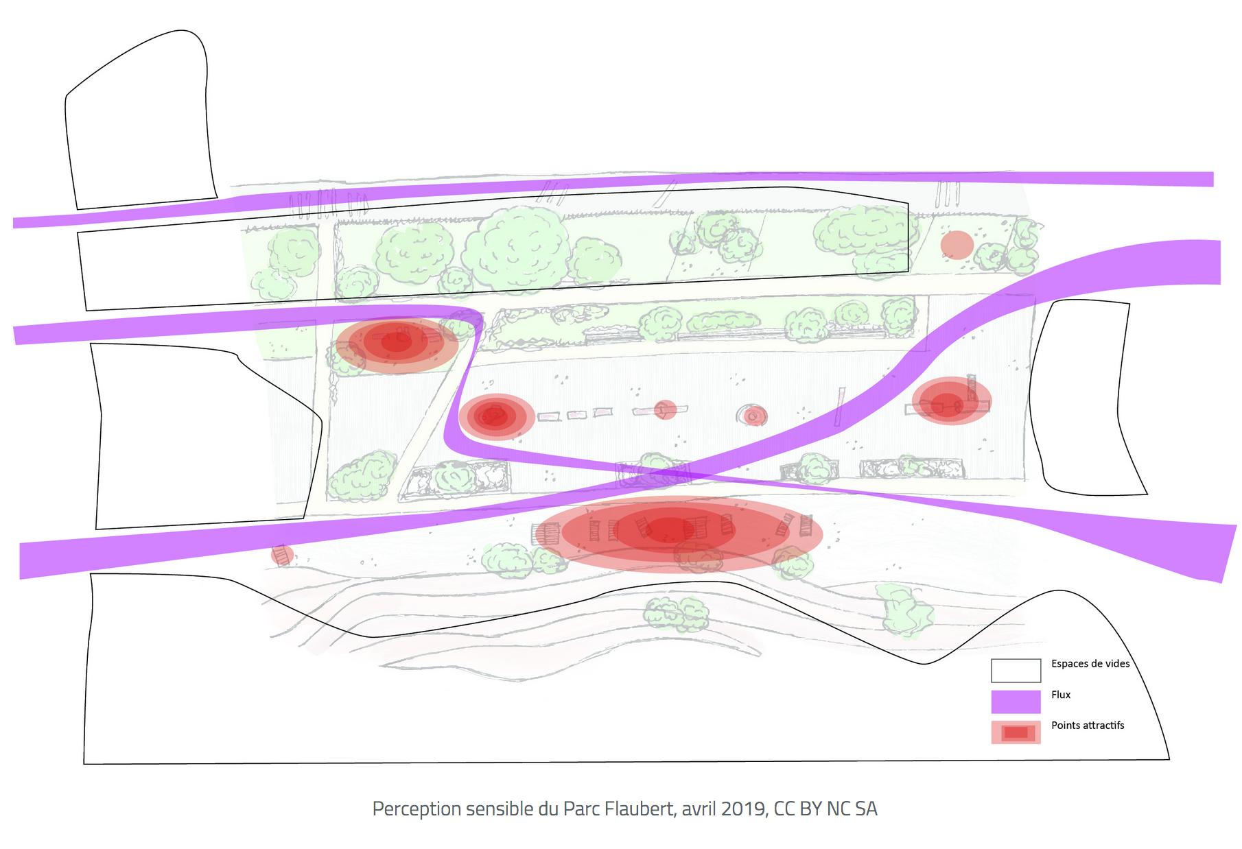Perception sensible du Parc Flaubert, avril 2019, CC BY NC SA