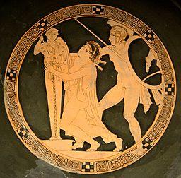 Ajax et Cassandre, musée du Louvre (Wikicommon)