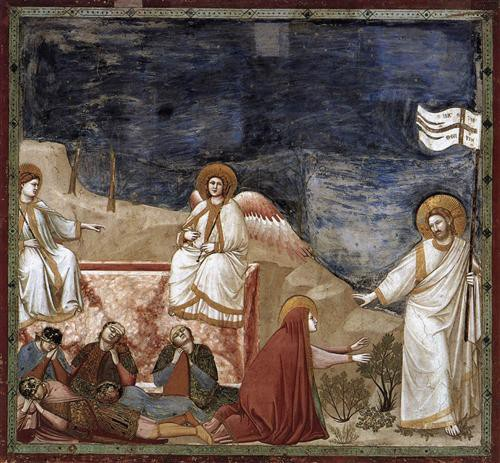 Giotto, Noli me tangere, Chapelle des Scrovegni, Padoue, Italie (wikiart)