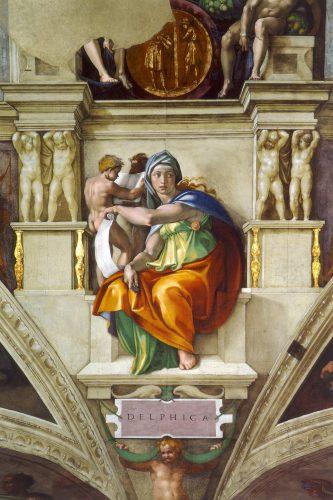Michel-Ange, La Sibylle de Delphes, Chapelle Sixtine, Wikicommons