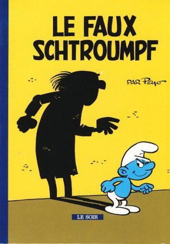 Couverture du mini-récit de Peyo & Yvan Delporte, Le faux schtroumpf, Spirou 1961
