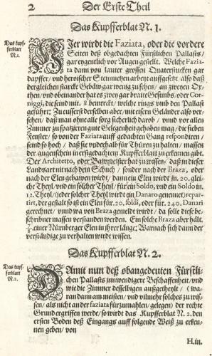 J. Furttenbach, Architectura civilis, Ulm 1628